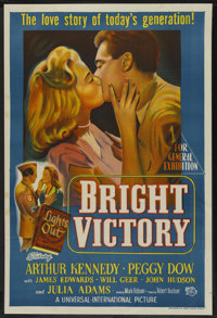 "Bright Victory (Universal International, 1951). Australian One Sheet (27"" X 40""). Drama"