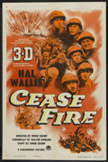 "Movie Posters:War, Cease Fire! (Paramount, 1953). One Sheet (27"" X 41"") 3-D. WarDocumentary. ..."