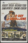 """Movie Posters:War, D-Day The Sixth of June (20th Century Fox, 1956). One Sheet (27"""" X41""""). War. ..."""