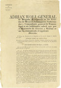 Autographs:Military Figures, General Adrian Woll Printed Document Signed...