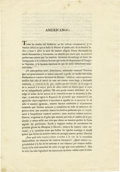 Western Expansion, 1812 Letter from the Spanish Regency to Americanos inTexas....