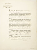 Books:Pamphlets & Tracts, [Circular] Decree to Hear Propositions For Treaty. ...