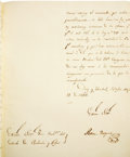 Autographs:Statesmen, Ramon Musquiz Letter Signed as Political Chief of the Department ofTexas....