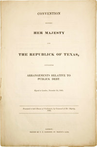 Convention Between Her Majesty And The Republic Of Texas, Containing Arrangements Relative To Publick Debt