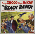 "Movie Posters:Mystery, The Black Raven (PRC, 1943). Six Sheet (81"" X 81""). Mystery. ..."