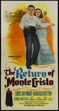 "Movie Posters:Adventure, The Return of Monte Cristo (Columbia, 1946). Three Sheet (41"" X81""). Adventure. ..."