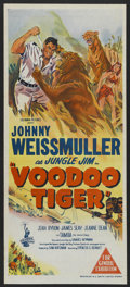 "Movie Posters:Adventure, Voodoo Tiger (Columbia, 1952). Australian Daybill (13"" X 30"").Adventure. ..."