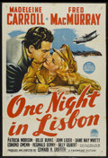 """Movie Posters:Comedy, One Night in Lisbon (Paramount, 1941). Australian One Sheet (27"""" X 40""""). Comedy. ..."""