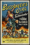 "Movie Posters:Action, Buccaneer's Girl (Universal International, 1950). One Sheet (27"" X41""). Action. ..."