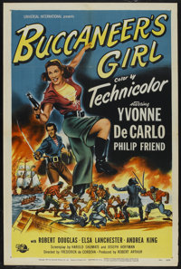 "Buccaneer's Girl (Universal International, 1950). One Sheet (27"" X 41""). Action"