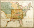 Western Expansion, 1822-1823 Map of United States of America and Texas...