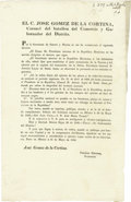 Books:Pamphlets & Tracts, Mexican Decree Relating to Prisoner Santa Anna Signed ...
