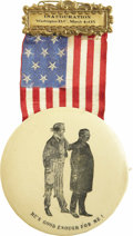 """Political:Ribbons & Badges, Theodore Roosevelt: """"He's Good Enough For Me"""" Inaugural Badge...."""