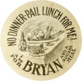Political:Pinback Buttons (1896-present), William Jennings Bryan: A Very Rare and Novel Cartoon ButtonVariety....