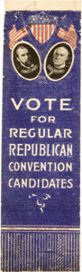 Political:Ribbons & Badges, Hughes & Fairbanks: A Rare 1916 Jugate Oil Cloth Ribbon in Amazing Condition....