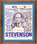 Political:Posters & Broadsides (1896-present), Adlai Stevenson: 1952 Labor Committee Poster....