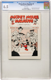 Mickey Mouse Magazine (first series) V1#9 (Kay Kamen Inc., 1933) CGC FN+ 6.5 White pages