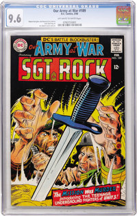 Our Army at War #189 (DC, 1968) CGC NM+ 9.6 Off-white to white pages