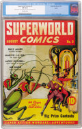 Golden Age (1938-1955):Science Fiction, Superworld Comics #3 Larson pedigree (Hugo Gernsback, 1940) CGC FN6.0 Off-white pages....