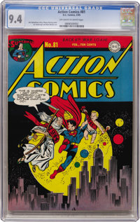 Action Comics #81 (DC, 1945) CGC NM 9.4 Off-white to white pages