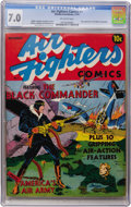 Golden Age (1938-1955):War, Air Fighters Comics #1 (Hillman Fall, 1941) CGC FN/VF 7.0 Off-whitepages....