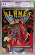 Golden Age (1938-1955):Science Fiction, Planet Comics #1 (Fiction House, 1940) CGC Apparent VG+ 4.5Extensive (P) Cream to off-white pages....