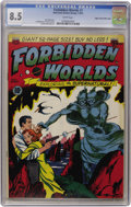 Golden Age (1938-1955):Science Fiction, Forbidden Worlds #1 Mile High pedigree (ACG, 1951) CGC VF+ 8.5White pages....