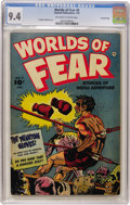 Golden Age (1938-1955):Horror, Worlds of Fear #8 Crowley Copy pedigree (Fawcett, 1953) CGC NM 9.4Off-white to white pages....