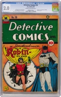 Golden Age (1938-1955):Superhero, Detective Comics #38 (DC, 1940) CGC GD 2.0 Cream to off-white pages....
