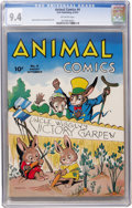Golden Age (1938-1955):Funny Animal, Animal Comics #4 (Dell, 1943) CGC NM 9.4 Off-white pages....