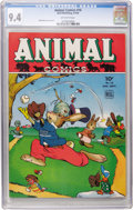 Golden Age (1938-1955):Funny Animal, Animal Comics #16 (Dell, 1945) CGC NM 9.4 Off-white pages....