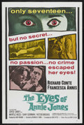 "Movie Posters:Mystery, The Eyes of Annie Jones (20th Century Fox, 1964). One Sheet (27"" X41""). Mystery. ..."