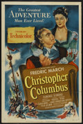 "Movie Posters:Adventure, Christopher Columbus (Universal, 1949). One Sheet (27"" X 41"").Adventure...."