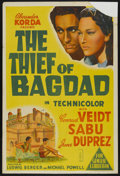 """Movie Posters:Fantasy, The Thief of Bagdad (United Artists, 1940). Australian One Sheet (27"""" X 40""""). Fantasy. ..."""