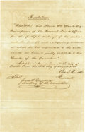 Autographs:Statesmen, Thomas J. Rusk Manuscript Document Signed...