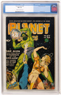 Golden Age (1938-1955):Science Fiction, Planet Comics #36 (Fiction House, 1945) CGC NM 9.4 Cream tooff-white pages....