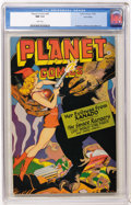 Golden Age (1938-1955):Science Fiction, Planet Comics #45 Lost Valley pedigree (Fiction House, 1946) CGC NM 9.4 White pages....