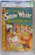 Golden Age (1938-1955):Cartoon Character, Four Color #49 Snow White and the Seven Dwarfs (Dell, 1944) CGC FN/VF 7.0 Off-white to white pages....