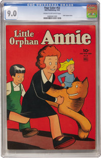 Four Color #52 Little Orphan Annie (Dell, 1944) CGC VF/NM 9.0 Cream to off-white pages