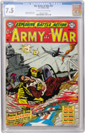 Golden Age (1938-1955):War, Our Army at War #21 (DC, 1954) CGC VF- 7.5 Cream to off-white pages....