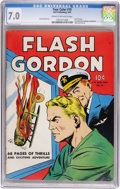 Golden Age (1938-1955):Science Fiction, Four Color #10 Flash Gordon (Dell, 1942) CGC FN/VF 7.0 Cream tooff-white pages....