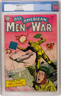 Golden Age (1938-1955):War, All-American Men of War #14 (DC, 1954) CGC FN/VF 7.0 Off-white towhite pages....