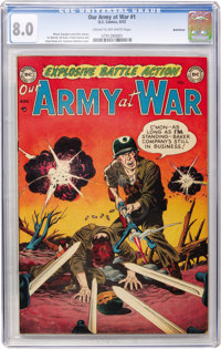 Our Army at War #1 Bethlehem pedigree (DC, 1952) CGC VF 8.0 Cream to off-white pages