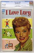 Golden Age (1938-1955):Miscellaneous, Four Color #535 I Love Lucy - File Copy (Dell, 1954) CGC VF/NM 9.0 Cream to off-white pages....