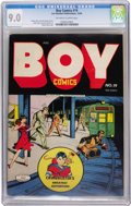 Golden Age (1938-1955):Crime, Boy Comics #19 (Lev Gleason, 1944) CGC VF/NM 9.0 Off-white to white pages....