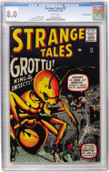 Silver Age (1956-1969):Horror, Strange Tales #73 White Mountain pedigree (Marvel, 1960) CGC VF 8.0White pages....
