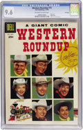 Silver Age (1956-1969):Western, Dell Giant Comics - Western Roundup #15 File Copy (Dell, 1956) CGCNM+ 9.6 Off-white to white pages....