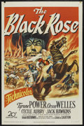 "Movie Posters:Adventure, The Black Rose (20th Century Fox, 1950). One Sheet (27"" X 41"").Adventure. ..."