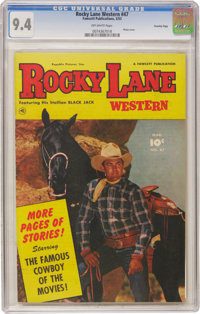 Rocky Lane Western #47 Crowley Copy pedigree (Fawcett, 1953) CGC NM 9.4 Off-white pages