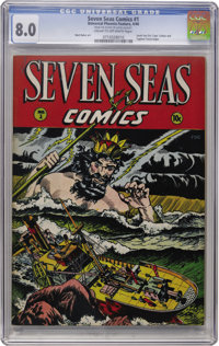 Seven Seas Comics #1 (Universal Phoenix Feature, 1946) CGC VF 8.0 Cream to off-white pages